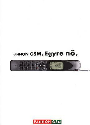 mobilecollectors.net - Early GSM ad from Hungary: Operator Pannon GSM and Nokia 2110.