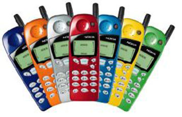 mobilecollectors.net - Factory colours of Nokia 5110, 1998.