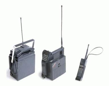 mobilecollectors.net - Three generations of Nokia Mobira phones: Senator, Talkman, Cityman