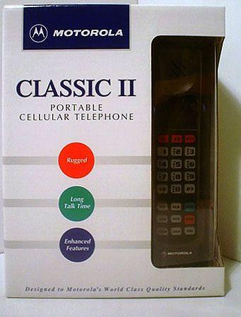 mobilecollectors.net - Motorola Classic II cellphone in its original packaging.